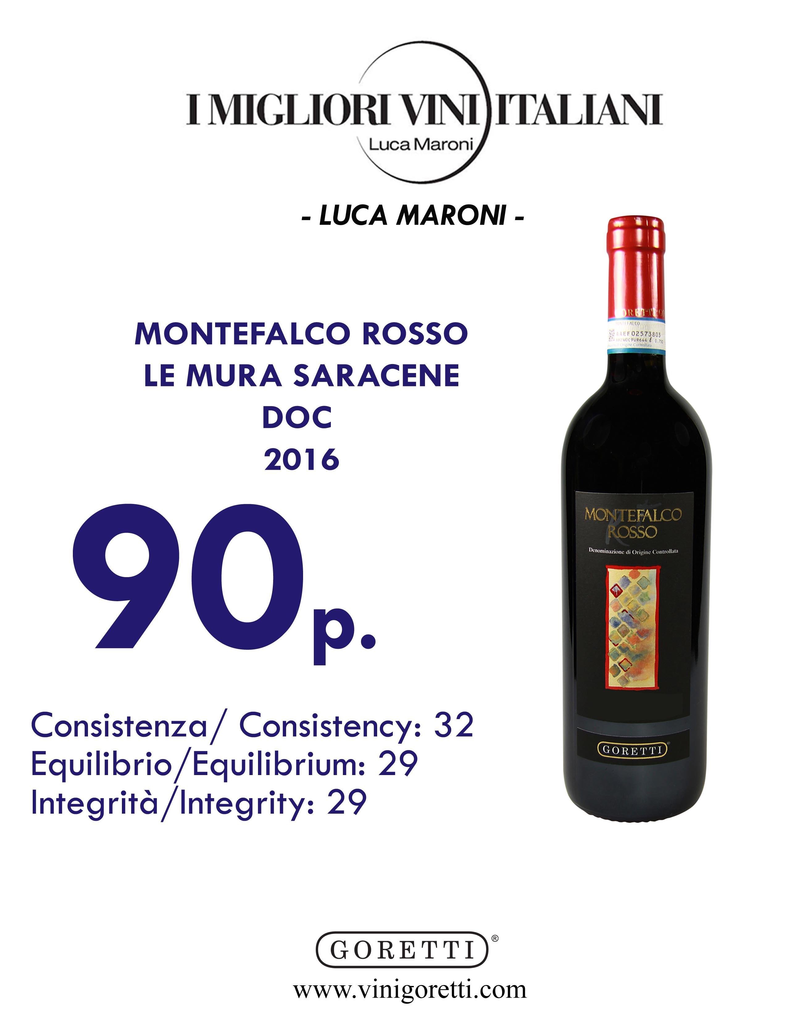 Montefalco Rosso Le Mura Saracene DOC 2016