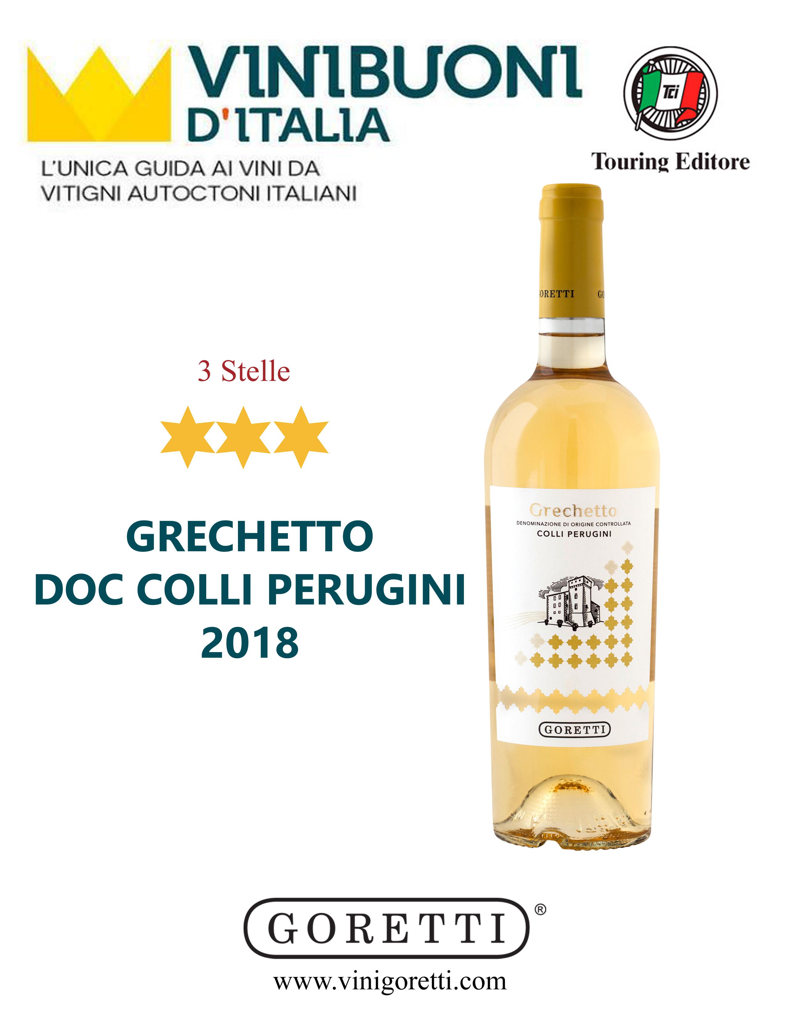 Grechetto Doc Colli Perugini 2018 3 Stelle